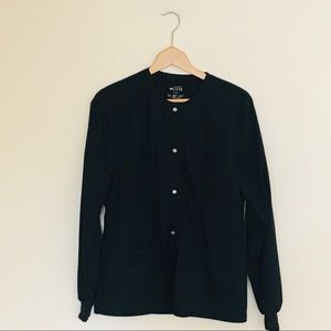 Cherokee Luxe Snap Button Scrub Uniform Jacket